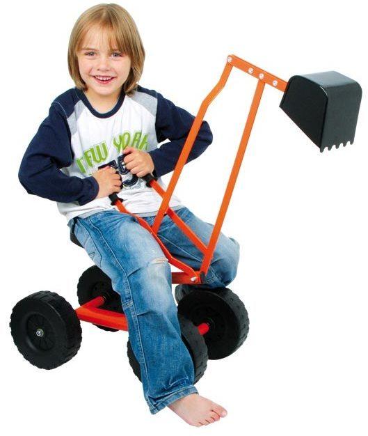 Excavatrice ou mini pelleteuse chez les enfants for Pelleteuse jouet exterieur