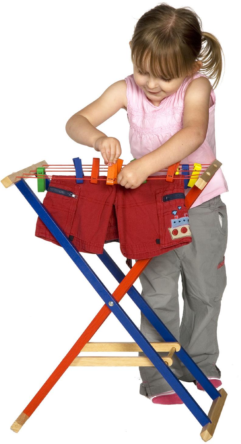 s choir tendoir linge en bois color chez les enfants. Black Bedroom Furniture Sets. Home Design Ideas