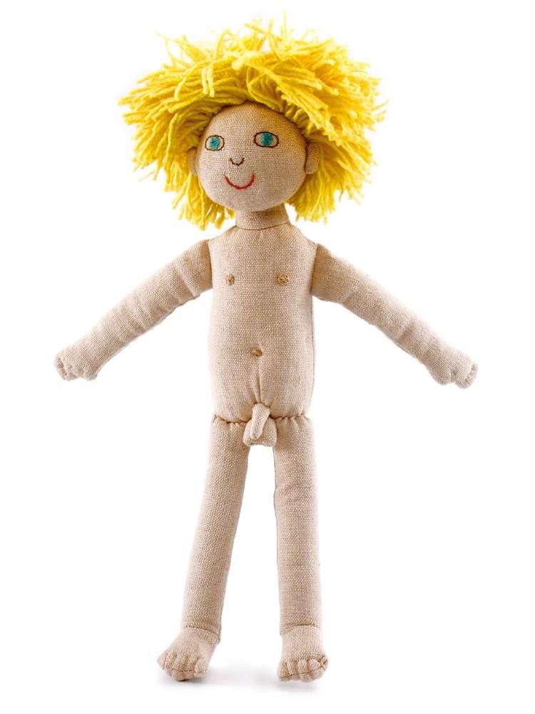 Poupée sexuée garçon en tissu, jouet commerce équitable Furnis