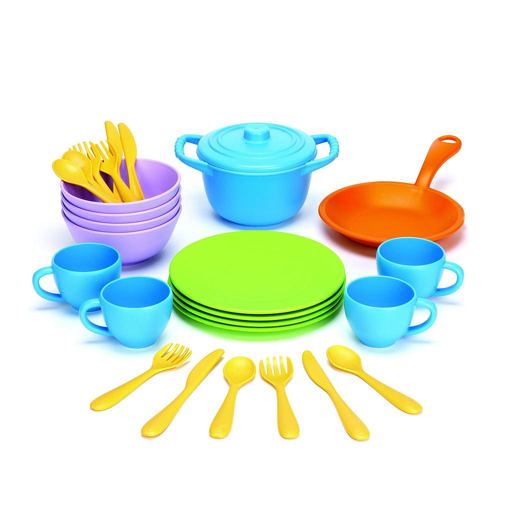 Couverts assiettes casseroles Green Toys