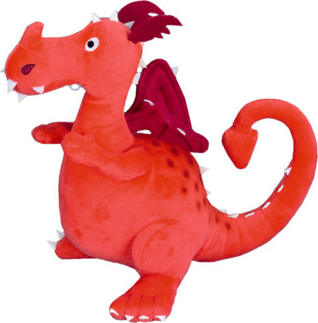 Peluche dragon orange