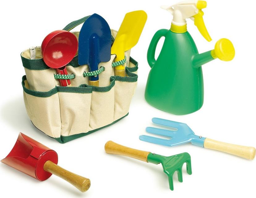 sac d 39 outils de jardinage pour enfant chez les enfants. Black Bedroom Furniture Sets. Home Design Ideas