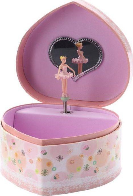boite musique et bijoux en forme de coeur 3 danseuses chez les enfants. Black Bedroom Furniture Sets. Home Design Ideas