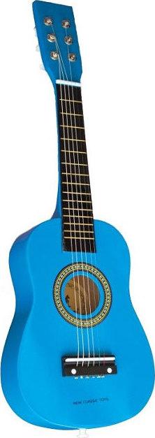 guitare en bois bleue 6 cordes chez les enfants. Black Bedroom Furniture Sets. Home Design Ideas