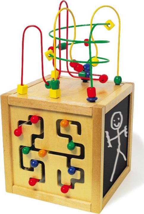 cube actif multi activit s en bois chez les enfants. Black Bedroom Furniture Sets. Home Design Ideas