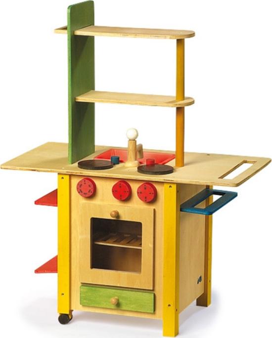 Cuisine de d nette en bois 3 en 1 chez les enfants - Dinette cuisine en bois ...