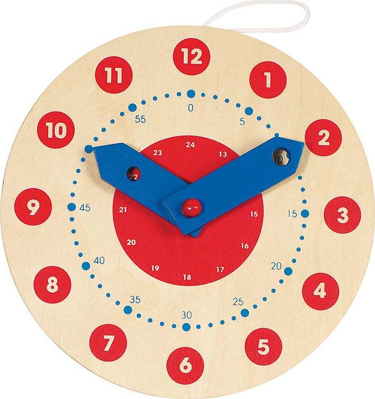 petite horloge en bois pour apprendre lire l 39 heure chez les enfants. Black Bedroom Furniture Sets. Home Design Ideas