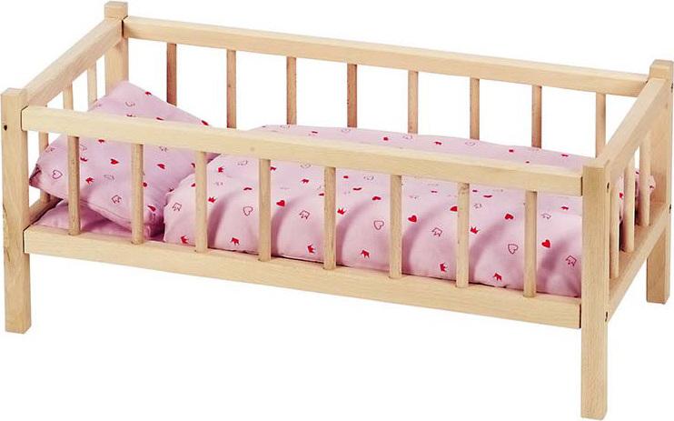 lit de poup e en bois naturel chez les enfants. Black Bedroom Furniture Sets. Home Design Ideas