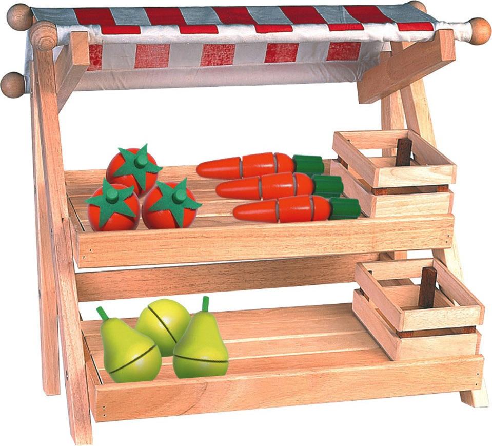 stand de marchande en bois et tissu petit mod le chez. Black Bedroom Furniture Sets. Home Design Ideas