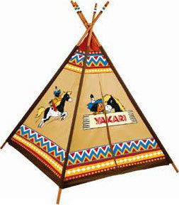 tente d 39 indien tipi pour enfants yakari chez les enfants. Black Bedroom Furniture Sets. Home Design Ideas