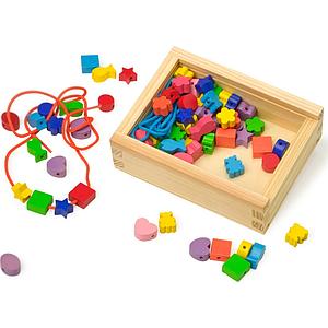 perles en bois pour enfant. Black Bedroom Furniture Sets. Home Design Ideas