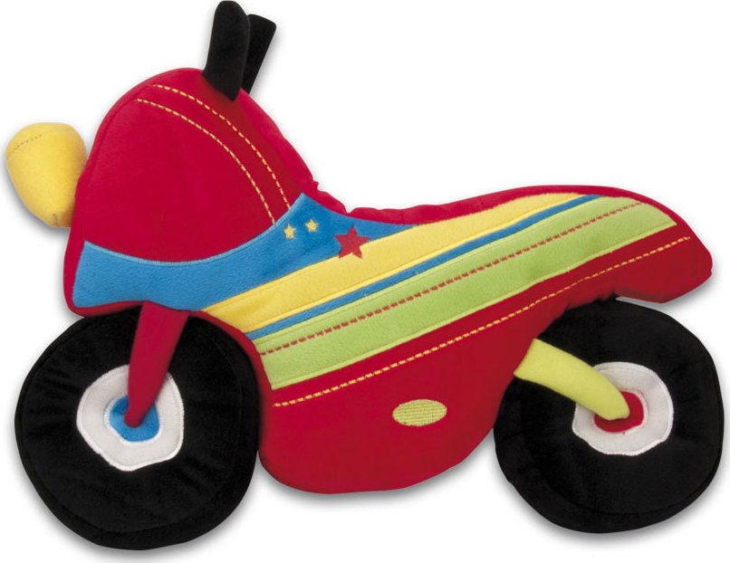 Coussin en peluche pour enfant moto | Chez les enfants
