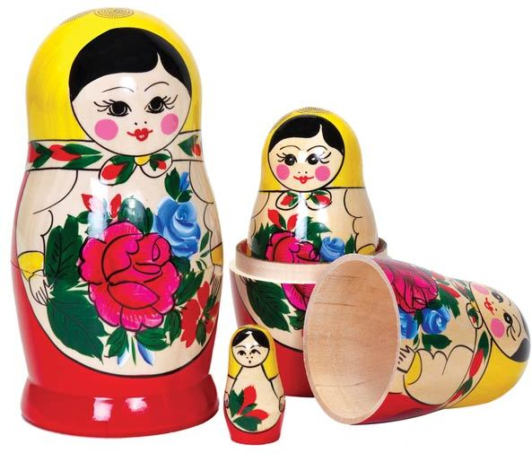 Poup es russes matriochkas en bois chez les enfants for Poupee russe