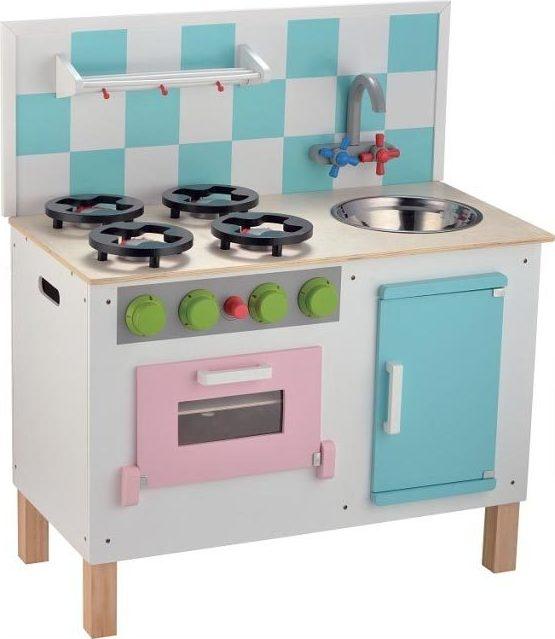 Cuisine de d nette en bois de luxe pastel chez les enfants - Dinette cuisine en bois ...