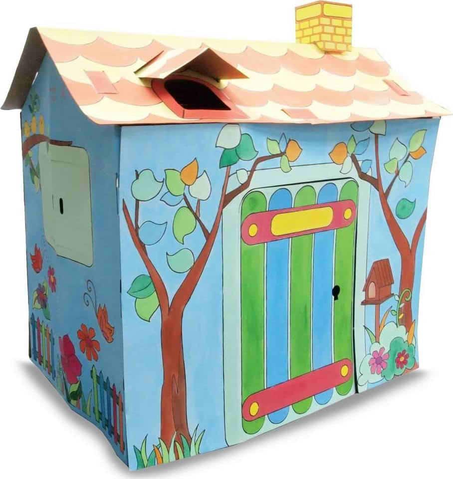 Cabane En Carton A Colorier Maison